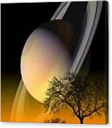 Saturn Viewing Canvas Print