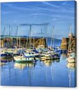 Saundersfoot Boats Painted Canvas Print