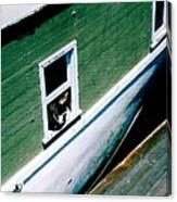 Sausalito Boat Cat Canvas Print