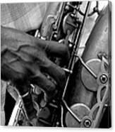 Saxophone Plaayer Canvas Print