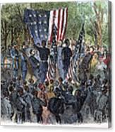 Sc: Emancipation, 1863 Canvas Print