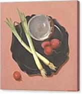 Scallions And Radishes Canvas Print