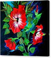 Scarlet Hibiscus Canvas Print