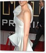 Scarlett Johansson Wearing An Armani Canvas Print