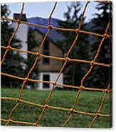 Scene Through A Volley Ball Court 2 Canvas Print