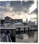 Scenic Philadelphia Winter Canvas Print
