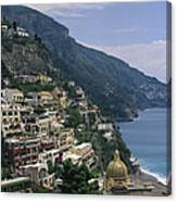 Scenic View Of The Beach And Hillside Canvas Print