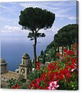 Scenic View Of Villa Rufolo Terrace Canvas Print