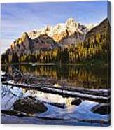 Schaffer Lake And Mount Huber Canvas Print