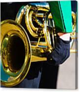 School Band Horn Canvas Print