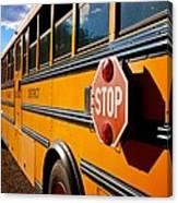 School Bus Canvas Print