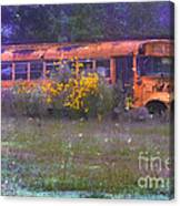 School Bus Out To Pasture Canvas Print