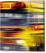School Bus Rush Canvas Print
