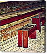 School House Benched And Dusted Canvas Print