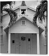 School House In Black And White Canvas Print