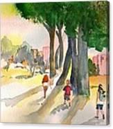 School Kids Canvas Print
