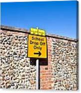 School Parking Sign Canvas Print
