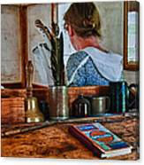 Schoolmarm's Desk Canvas Print