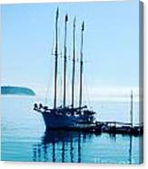 Schooner At Dock Bar Harbor Me Canvas Print