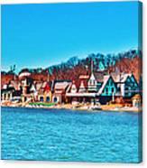 Schuylkill Navy Boat House Row Canvas Print