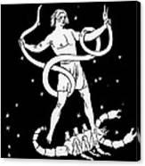 Scorpio And Ophiuchus Constellations Canvas Print