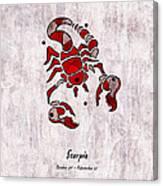 Scorpio Artwork Canvas Print