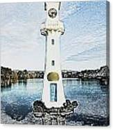 Scott Memorial Roath Park Cardiff 3 Canvas Print