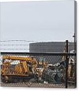 Scrapyard Machinery Canvas Print