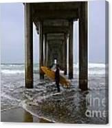 Scripps Pier Surfer 2 Canvas Print