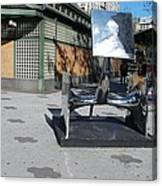 Sculptures On The Corner Canvas Print