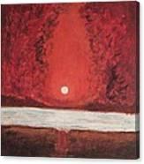 Sea And Moon Canvas Print