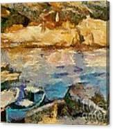 Sea Front On Mediterranean Sea Canvas Print