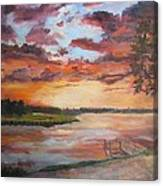 Sea Island Sunset Canvas Print