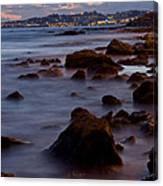 Sea Rocks Land Canvas Print
