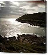Sea Scape On The Gower Canvas Print