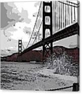 Sea Spray Under The Golden Gate Bridge Canvas Print