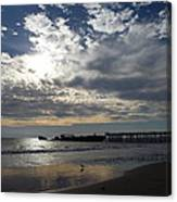 Seacliff Cement Ship Sunset Canvas Print