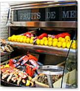 Seafood Market In Nice Canvas Print