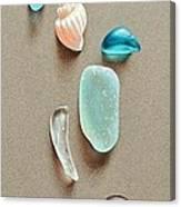 Seaglass Pieces Canvas Print