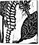 Seahorse Block Print Canvas Print