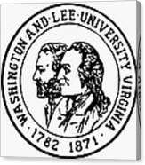 Seal: Washington & Lee Canvas Print