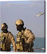 Seals Aboard A Rigid-hull Inflatable Canvas Print