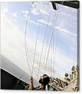 Seaman Raises The Foxtrot Flag Canvas Print