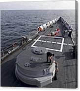 Seamen On The Forecastle Canvas Print