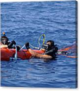 Search And Rescue Swimmers Retrieve Canvas Print