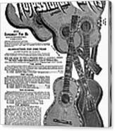 Sears Ad - Guitars 1902 Canvas Print