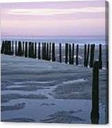 Seascape At Dusk With Pillars In Canvas Print
