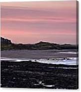 Seashore At Sunset, Northumberland Canvas Print