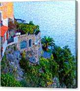 Seaside Villa Amalfi Canvas Print