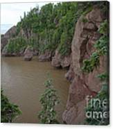 Seastacks At Hopewell Rocks Canvas Print